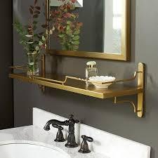 Gold Bathroom Mirror by Half Court Brass Mirror Shelf