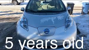 nissan leaf solar panel nissan leaf 5 year review youtube
