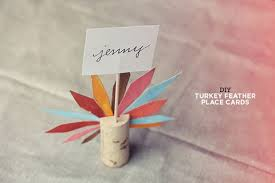 diy place cards d i y thanksgiving place card turkey easy place cards craft for