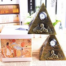 bronze pyramid clock pharaoh avatar camel sphinx metal