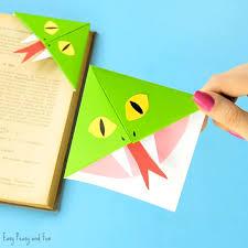 Origami Snake - snake corner bookmarks easy peasy and