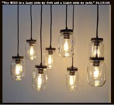Cool Pendant Lights by Mason Jar 8 Light Pendant Chandelier New Quart Clear U2013 The Lamp Goods