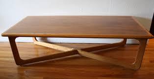 vintage mid century modern coffee table mid century modern cross base coffee table by lane picked vintage