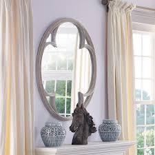 clover distressed mirror oka
