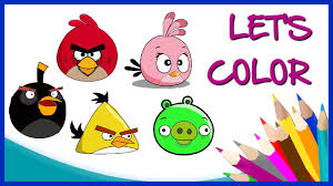 lets color angry bird friends step step coloring