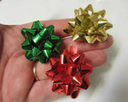 christmas earrings bow earrings etsy