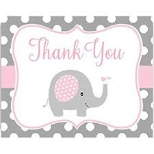 thank you baby shower baby shower thank you cards polka dots elephant