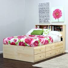 Oak Bookcase Headboard Queen Size Captains Bed With Bookcase Headboard Storage Plus