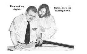 Jesus Drawing Meme - office space hilarious