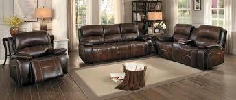 sofa match homelegance mahala reclining sofa set brown top grain leather