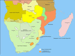 Southern Africa Map by Alternative Southern Africa Dominated By The European Controlled