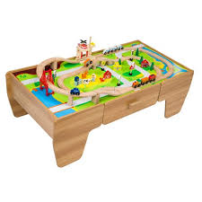 wooden train set table wooden train set table mountain rock wooden train track table play