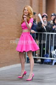 bella thorne the view in new york two piece short evening prom