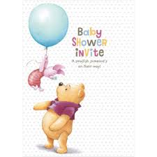 baby shower invite winnie the pooh cards pack of 8 11503383