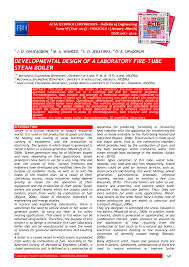 developmental design of a laboratory fire tube steam boiler pdf