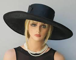 funeral hat wedding hat black and white hat wide brim hat derby hat