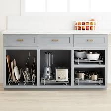 kitchen cabinet pull out storage racks lynk chrome pull out cabinet drawers