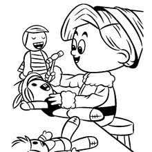 rudolph hermey misfit elf coloring pages hellokids