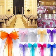 bows for chairs 100 chair sashes venue decorations ebay