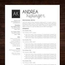 Resume Templates For Word Cv Design Cover Letter Printable Resume Template Instant