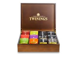 deluxe wooden tea box 12 compartments filled