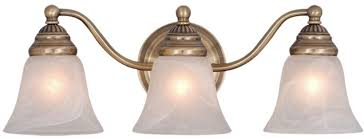 Brass Bathroom Lights Vaxcel Vl35123a Standford Antique Brass 3 Light Bathroom Lighting