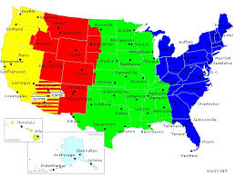 us map time zones with states time zone map of us us map states time zones time zone map usa