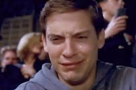 Tobey Maguire Face Meme - tobey maguire crying blank template imgflip