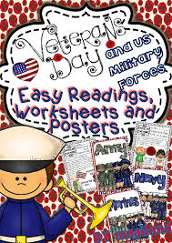 veterans day and us military forces easy readings worksheets and