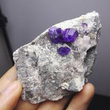 natural stones and minerals rock purple fluorite rare ore crystal