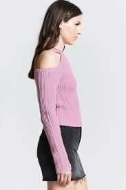 open shoulder sweater ribbed open shoulder sweater forever21