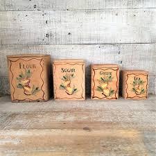 shop vintage kitchen canister sets on wanelo