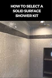 best 20 shower kits ideas on pinterest pool shower outdoor how to select a stone solid surface shower kit