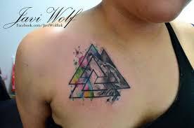 tattoo chest triangle original triangle shaped watercolor tattoo on shoulder tattoo wf