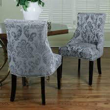 damask chair grey fan damask chair 2 pack my new space