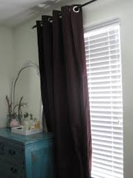 vintage bedroom with ikea purple blackout curtains and white