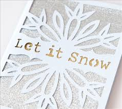 project center let it snow card