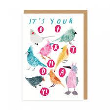 happy birthday birds greeting card ohh deer trade