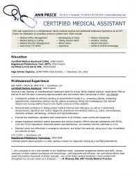 sample resume bookkeeper sample resume for medical assistant text certified medical assistant sample resume sioncoltd com