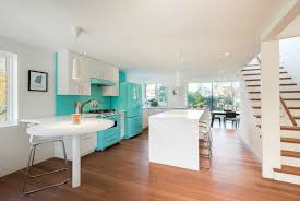 Light Blue Kitchen Backsplash by Architecture Blue Kitchen Home Located In Hamilton Designed By