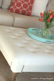 How To Make An Ottoman Out Of A Coffee Table Coffee Table In Search Of The Tufted Ottoman Tidbitstwine