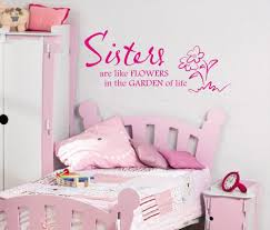 online get cheap wall decal sister aliexpress com alibaba group sisters are like flowers wall art sticker quote children girls bedroom wall decals 3 sizes