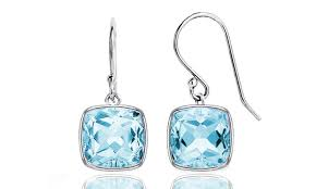 topaz earrings 3 50 ctw blue topaz earrings groupon goods