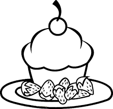 cake strawberry food coloring pages bulk color