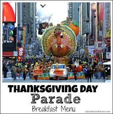 thanksgiving day parade breakfast menu mix and match