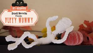 diy flexy mummy momia flexible halloween decoration