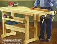Woodworkers Bench Plans Over 50 Free Workbench Woodcraft Plans At Allcrafts Net
