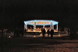 Lighted Music Gazebo by Cape Charles Virginia Central Park Life And Real Estate On The