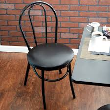 lancaster table and seating table seating black hairpin cafe chair with 1 1 4 padded seat