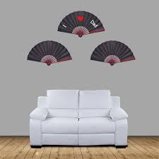 Chinese Wall Fan by Metable Large Black Silk Folding Fan Chinese Style Men Bamboo